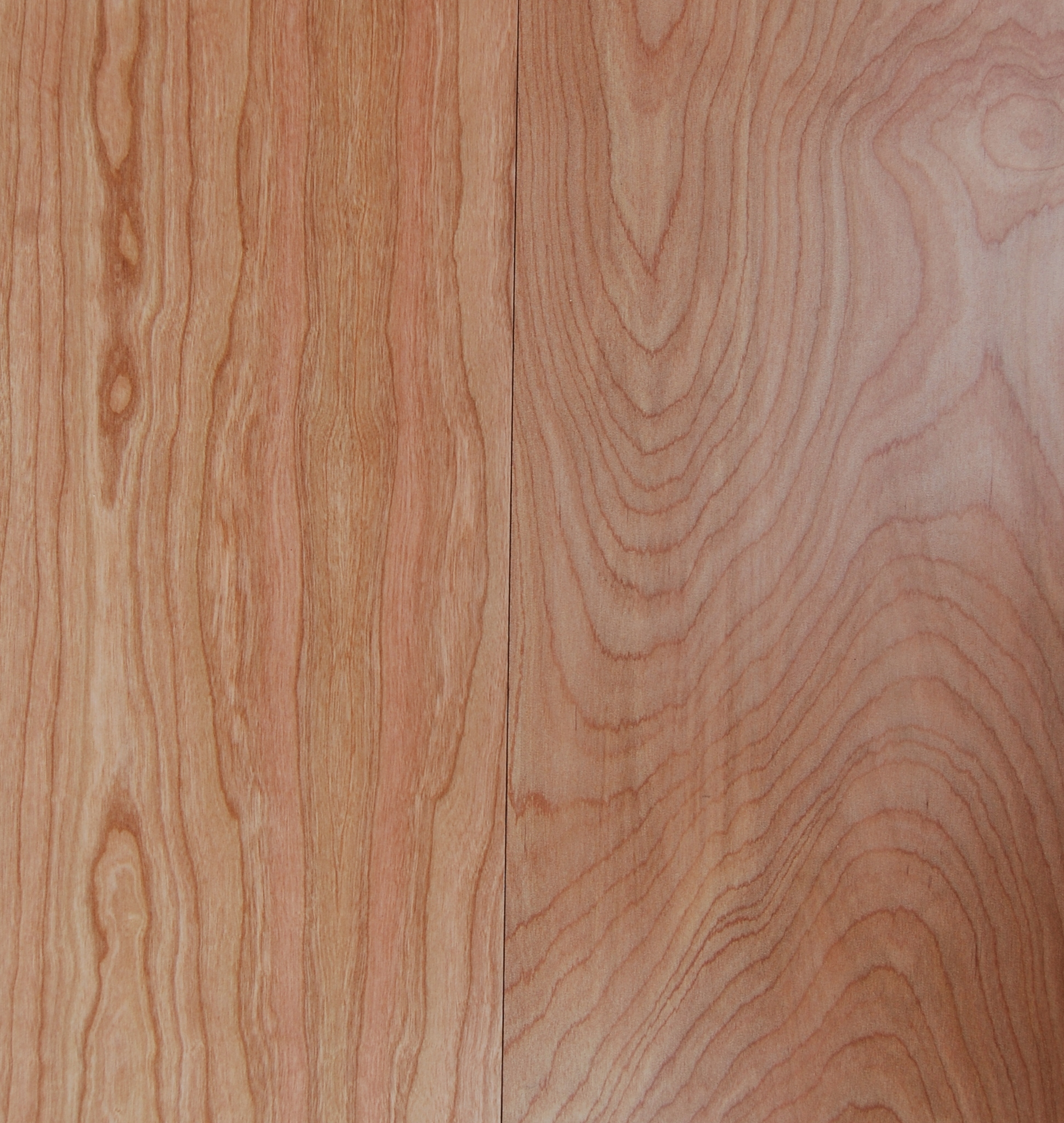NSMT natural cherry and red birch finishes